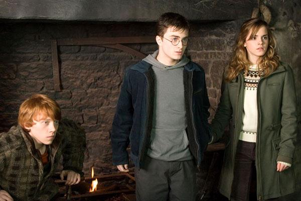 Rupert Grint, Daniel Radcliffe et Emma Watson. Warner Bros.