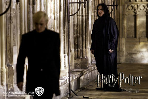 Tom Felton et Alan Rickman. Warner Bros. France