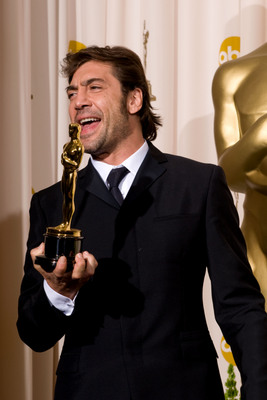 Javier Bardem. Oscar du Meilleur acteur dans un second rôle pour No Country for Old Men - Non, ce pays n'est pas pour le vieil homme. Matt Petit / ©A.M.P.A.S.