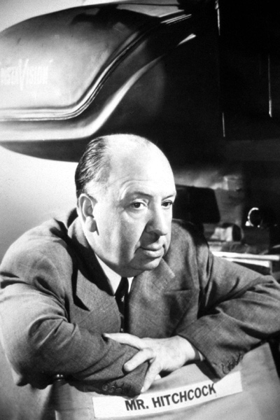 Portrait d'Alfred Hitchcock. Collection Christophe L.