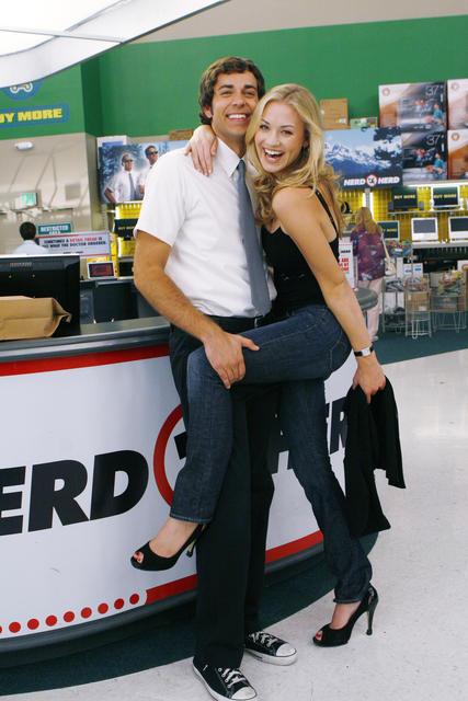 Yvonne Strahovski & Zachary Levi. Warner Bros International Television