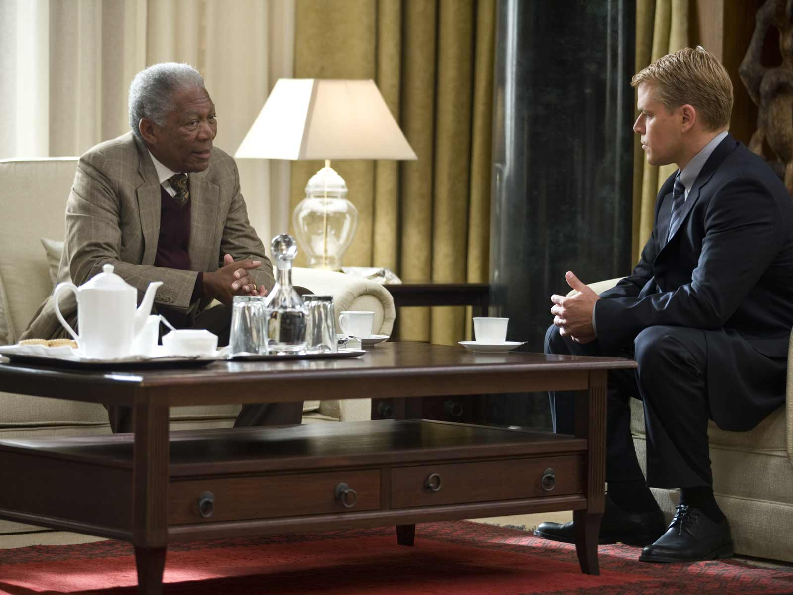 Morgan Freeman et Matt Damon. Warner Bros. France