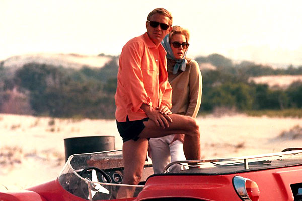 Steve McQueen et Faye Dunaway. Collection Christophe L.