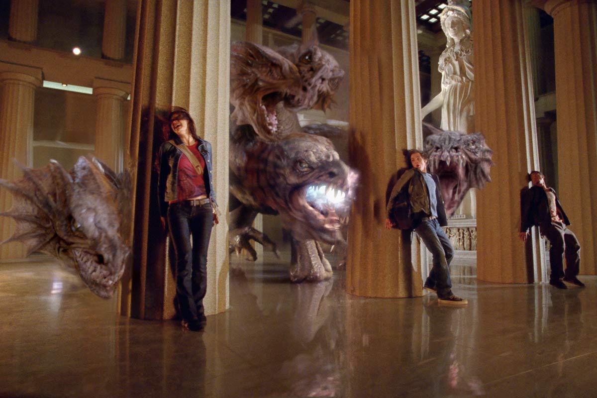 Alexandra Daddario, Brandon T. Jackson et Logan Lerman. Twentieth Century Fox France
