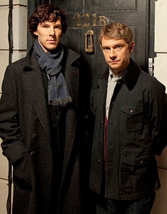 Benedict Cumberbatch et Martin Freeman. BBC (British Broadcasting Corporation)